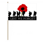 Lest We Forget Army Hand Flag - Large.